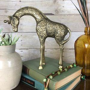 Vintage Leonard Brass Giraffe MidMod Home Decor